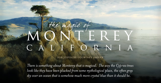 The Magic of Monterey, California: There is something about Monterey that is magical.  The way the Cypress trees look like they have been plucked from some mythological place, the often gray sky over an ocean that is somehow much more crystal blue than it should be.
