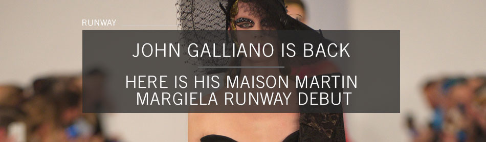 John Galliano Finds the Middle Ground in His Maison Martin Margiela Runway Debut