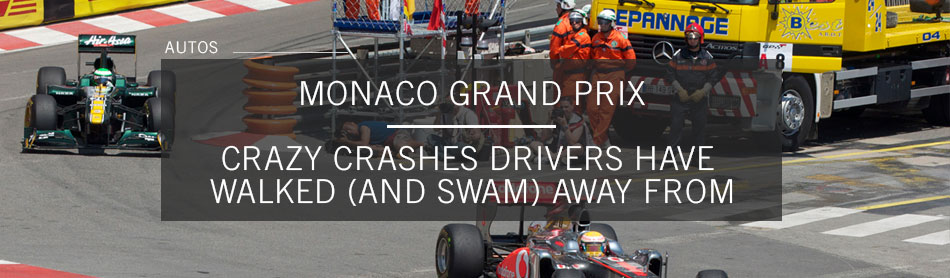 Crazy Crashes Drivers Have Walked (and Swam) Away From at the Monaco Grand Prix