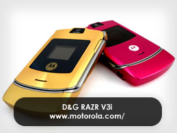 RAZR V3i Is Aglitter with D&G!